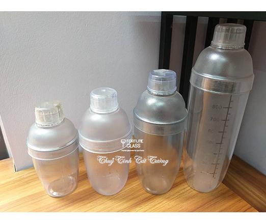 Shaker nhựa vạch mờ 350ml