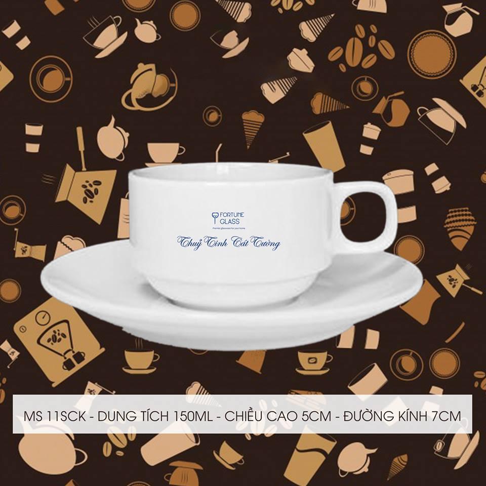 Tách cafe 7.5 + đĩa 7.5