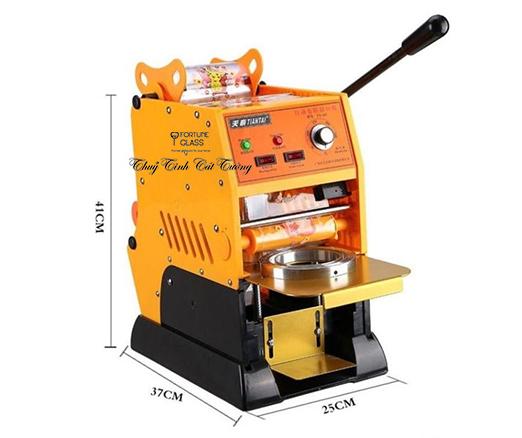 Máy dập cốc bán tự động (cuộn màng dập tự quay)