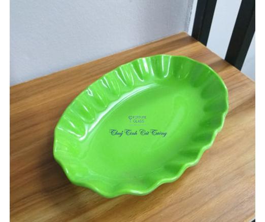 Đĩa oval viền trung (1c) - H-0508