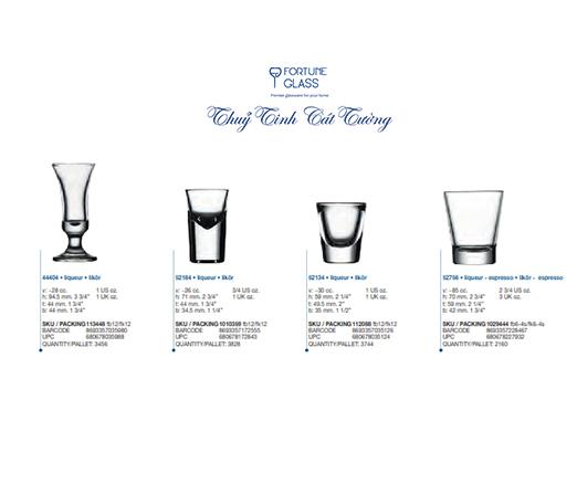 Ly rượu B52 (Bộ 12c) 28ml - 44404 - SX Thổ Nhĩ Kỳ