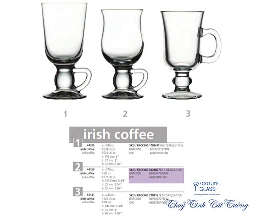 Cốc cafe Irish (Bộ 6c) 280 ml - 44109 - SX Thổ Nhĩ Kỳ