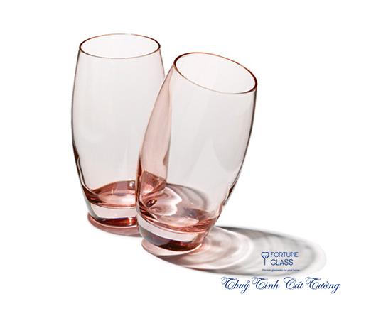 Cốc Bầu Cao Barrel (hồng) (Bộ 6c) 500ml - 41020 - SX Thổ Nhĩ Kỳ (Tạm Hết)