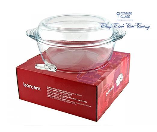 Tô chịu nhiệt cao cấp Borcam (2000 ml) - 59003 - SX Thổ Nhĩ Kỳ