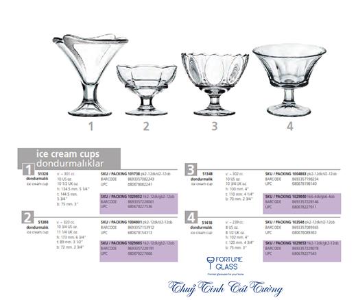 Ly kem phễu loe (bộ 6c) 301ml - 51328 - SX Thổ Nhĩ Kỳ