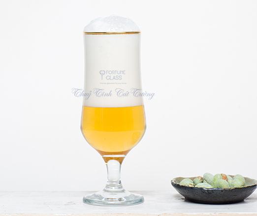 Ly bia viền vàng (385ml) (Bộ 6c) - 44169 - SX Thổ Nhĩ Kỳ