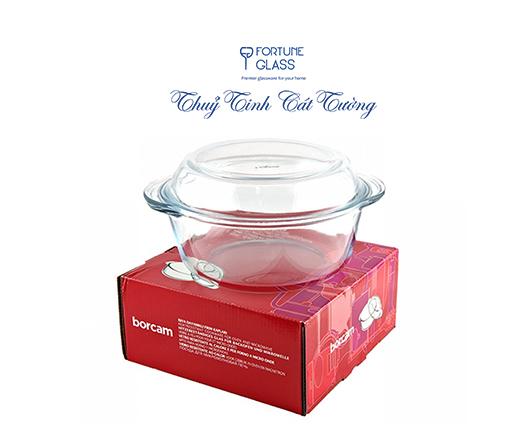 Tô chịu nhiệt cao cấp Borcam (1000 ml) - 59033 - SX Thổ Nhĩ Kỳ