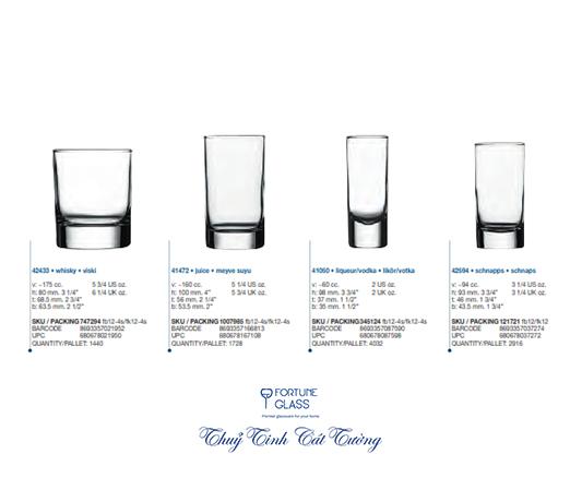 Ly rượu ống (Bộ 12c) 60ml - 41050 - SX Thổ Nhĩ Kỳ