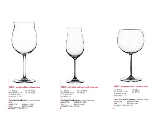 Ly pha lê vang trắng cỡ đại (Bộ 6c) 570 ml - 6021 - SX Thổ Nhĩ Kỳ