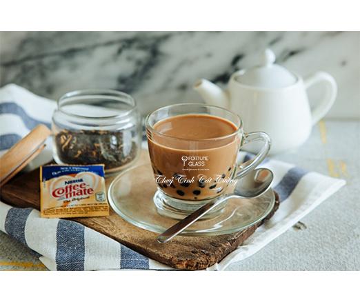 Bộ đĩa + tách cafe Kenya Cappuccino (250ml) (Bộ 6c + 6d) - P01641 + P01671 - SX Thái Lan
