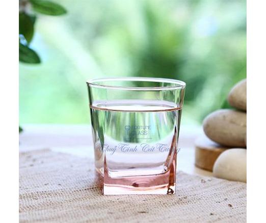 Cốc Vuông Lùn Whisky (màu hồng) (Bộ 6c) 310ml - 41290 - SX Thổ Nhĩ Kỳ