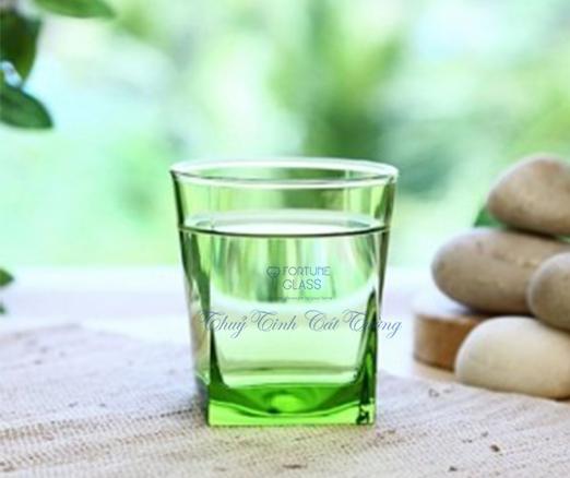 Cốc Vuông Lùn Whisky (xanh cốm) (Bộ 6c) 310ml - 41290 - SX Thổ Nhĩ Kỳ