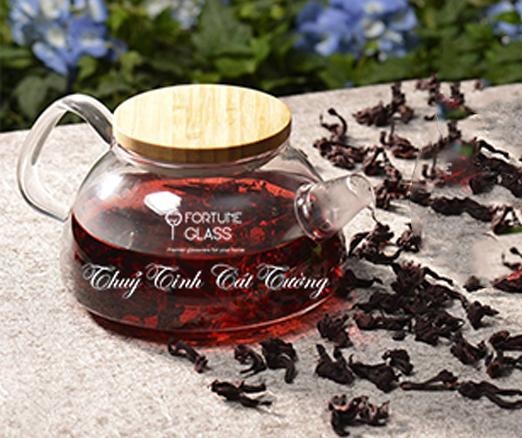 Ấm trà nắp gỗ (600 ml) - AG03 - SX Trung Quốc