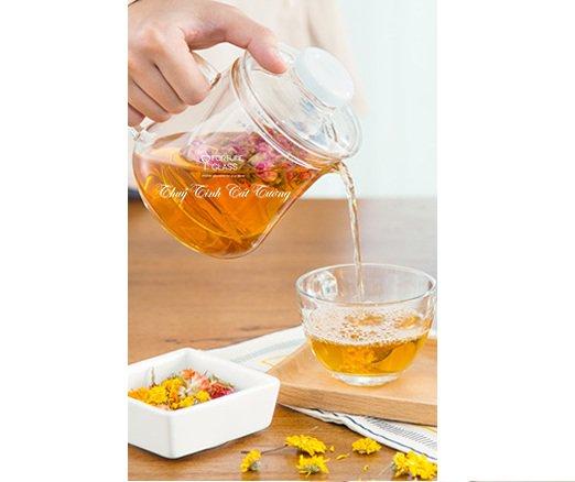 Ấm ủ trà vuông (500 ml) (1 c)- AUTT-01 - SX Trung Quốc