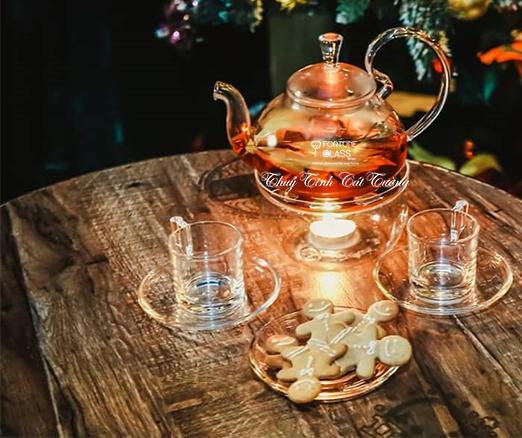 Bộ ấm trà thủy tinh (600 ml) - AV-LG49 - SX Trung Quốc & Thái Lan