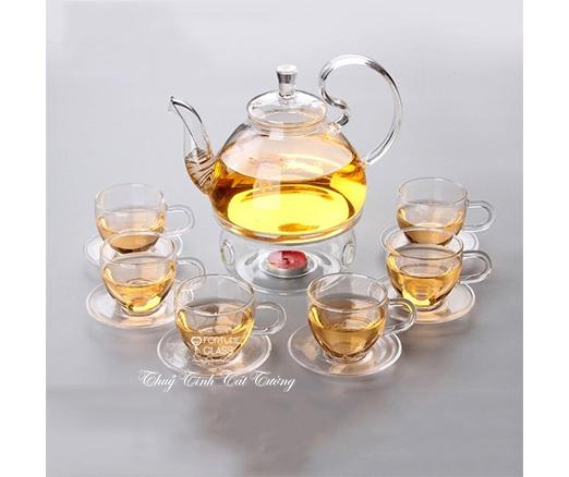 Bộ ấm trà thủy tinh (600ml) - AVTT02 - SX Trung Quốc