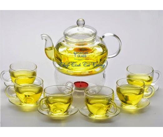 Bộ ấm trà thủy tinh (600ml) - ATTT01 - SX Trung Quốc
