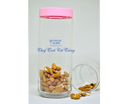 Lọ đựng gia vị (Nắp nhựa màu hồng) (1250 ml) (Bộ 6c) - B02544 - SX Thái Lan