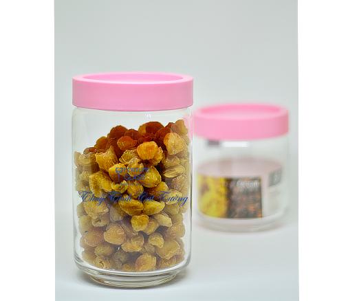 Lọ đựng gia vị (Nắp nhựa màu hồng) (Bộ 6c) 750ml - B02526 - SX Thái Lan