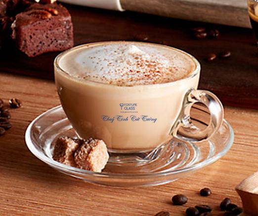 Bộ đĩa + tách cafe Latte (250ml) (Bộ 6c + 6d) - P02443 + P02471 - SX Thái Lan